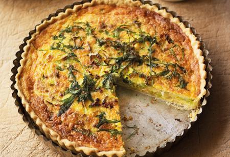 <b> Recipe: </b> Try this rustic leek, rocket and Parmesan tart