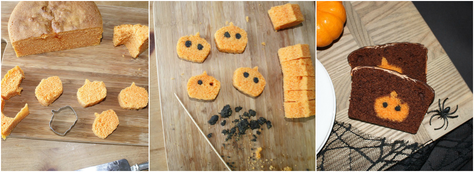 <b> Recipe: </b> Bake this spooky-cute Halloween cake with a secret pumpkin inside