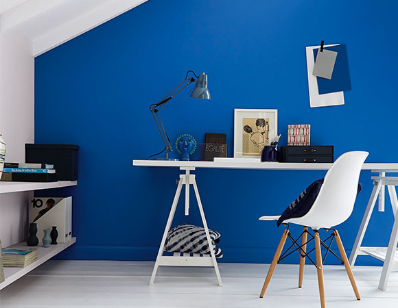blue home office. Blue And White Office Home H