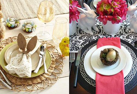 <b> Get the look: </b> Four different looks for your Easter table
