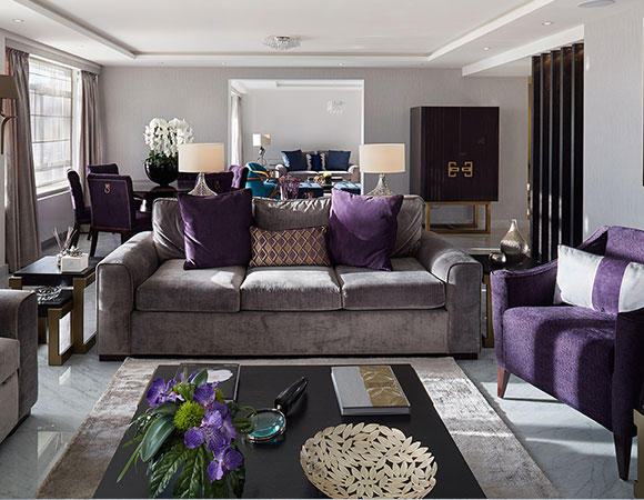 Grey and purple living room ideas modern house Purple living room decor