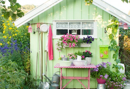 <b> Seasonal refresh: </b> A spring makeover for your garden shed