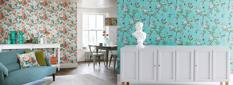 <b> Interior update: </b> Fall for these spring-inspired wallpapers