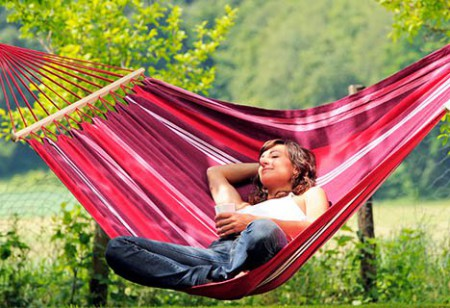 <b> Luxury lounging: </b> Relax in style with this Brazilian hammock