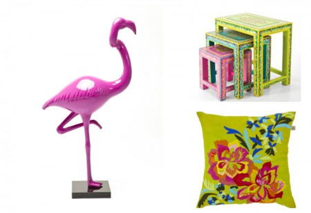 <b> Shop the tropical trend: </b> Palm prints, flamingos and exotic artwork