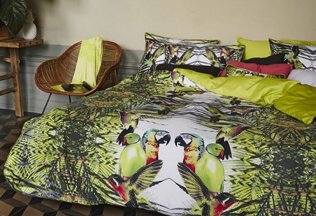 <b> Editor&#8217;s Pick: </b> Tropical print and pattern with Essenza bed linen