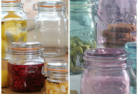 <b> Kilner Jars: </b> The iconic kitchen storage jar and a peach and amaretto jam recipe
