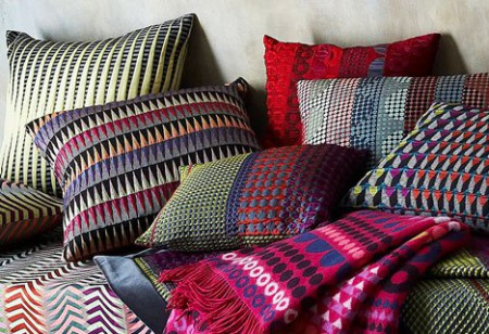 <b> Bright and Bold: </b> Margo Selby&#8217;s eye-catching geometric cushions