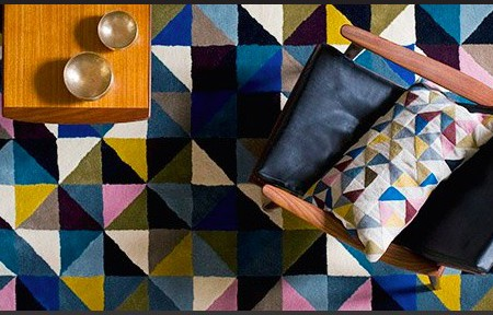 <b> Editor&#8217;s Pick: </b> The Harlequin rug from Niki Jones