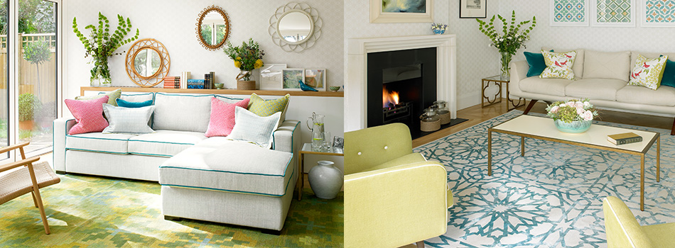 <b> House Tour: </b> Fresh hues, simple patterns and natural textures create a soothing scheme in this beautiful home