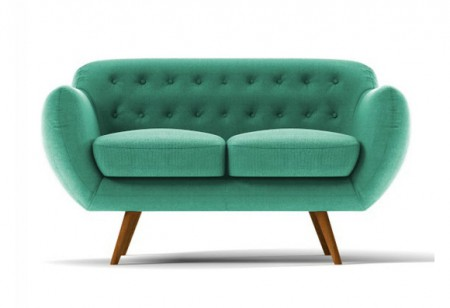 <b> Why We Love: </b> The turquoise two-seater sofa