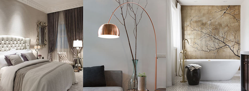 <b> Design Ideas: </b> 5 ways to add luxurious metal to every room