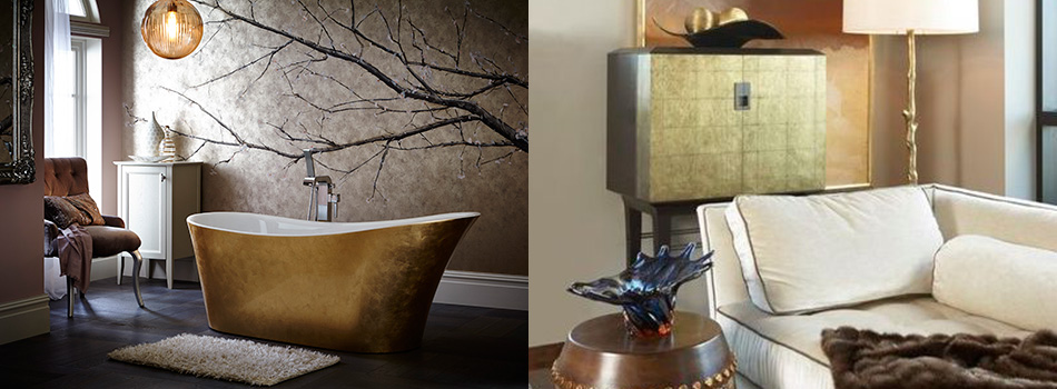 <b> Mixed Metals: </b> Add the 'Now' factor with metallic accents