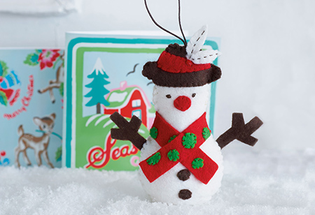 <b> Christmas Craft: </b> How to make a Frosty Snowman decoration by Cath Kidston